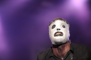 American singer of Slipknot performs dur